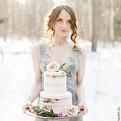 Свадебный салон ручной работы. Ярмарка Мастеров - ручная работа Серое свадебное платье «Grace». Handmade.