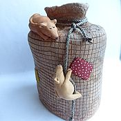 Сувениры и подарки ручной работы. Ярмарка Мастеров - ручная работа Копилка-мешок  с мышами. Handmade.