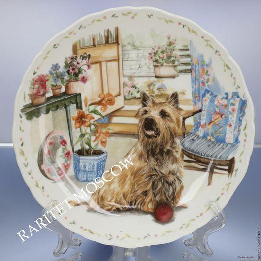 Винтажные предметы интерьера. Ярмарка Мастеров - ручная работа. Купить Тарелка собака йоркширский терьер Royal Albert 42. Handmade.