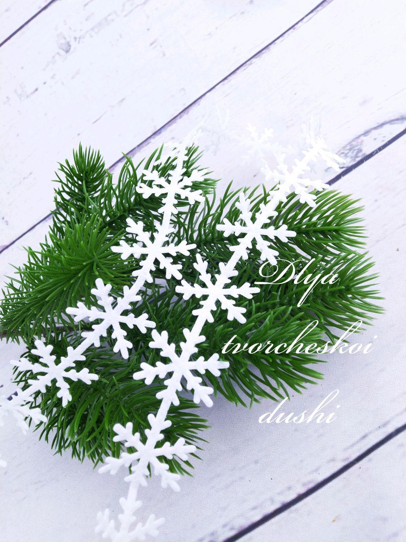 Лента декоративная снежинки, 2,5 см, Элементы декора, Москва,  Фото №1