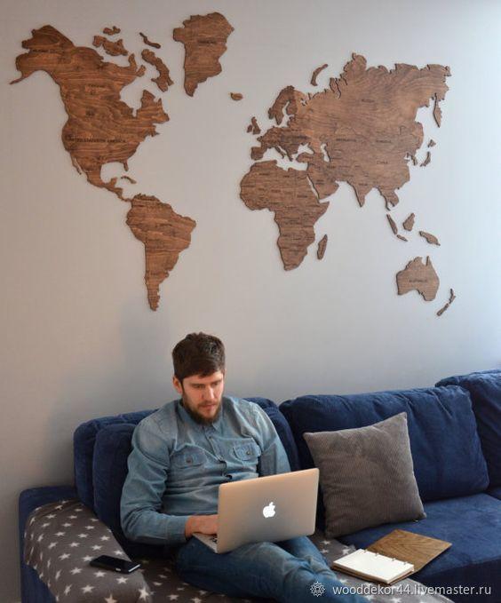 Карта мира, Дизайн, Кострома, Фото №1