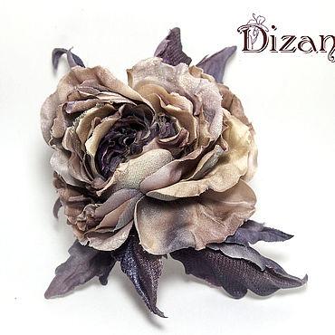 Flowers and floristry handmade. Livemaster - original item Brooch-rose