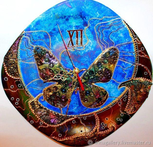 """Часы настенные: """"Бабочка для Волшебника"""", Часы классические, Кинешма,  Фото №1"""