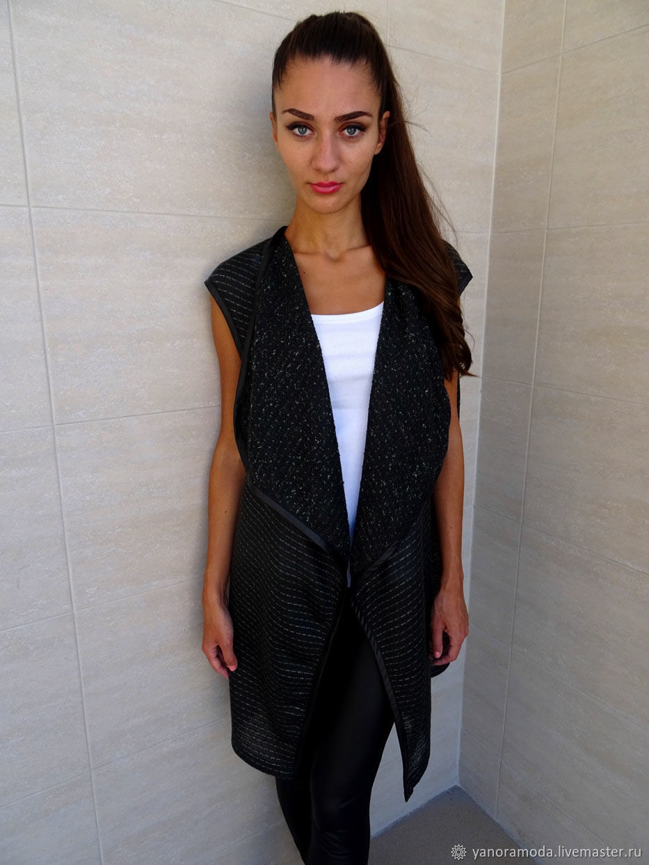 Asymmetrical vest, women's casual vest, Vests, Sofia,  Фото №1