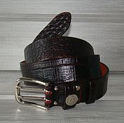 Аксессуары handmade. Livemaster - original item Men`s Belt leather CROC Elites.. Handmade.