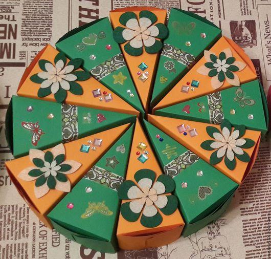 """Персональные подарки ручной работы. Ярмарка Мастеров - ручная работа. Купить Бумажный торт """"Краски осени"""". Handmade. Торт, для подарков"""