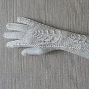 Аксессуары ручной работы. Ярмарка Мастеров - ручная работа Перчатки ...белый топаз.... Handmade.