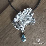 Украшения handmade. Livemaster - original item Drops. Silver necklace . Silver, blue Topaz. Handmade.