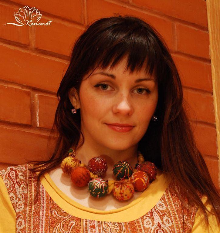 """Войлочные бусы """"Фольклор"""", Колье, Смоленск,  Фото №1"""