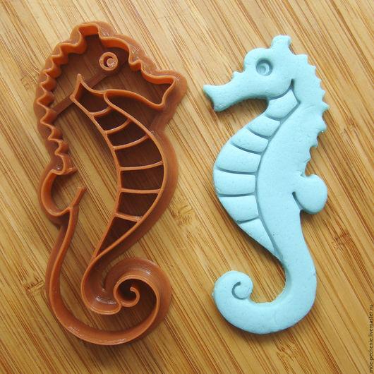 Морской конек. Вырубка-штамп для пряников, печенья, мастики, поделок из соленого теста.