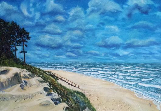 Пейзаж ручной работы. Ярмарка Мастеров - ручная работа. Купить Море,море.... Handmade. Морской пейзаж, волны, песочный