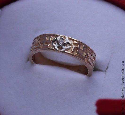 Кольцо СВАДЕБНИК. Могу изготовить как из золота 585 пробы, так и из 750. В данном кольце установлен бриллиант в 0,2 карата.