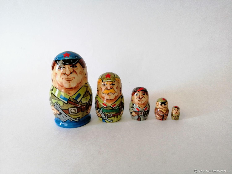 Матрёшка Военные, Народная кукла, Сергиев Посад,  Фото №1