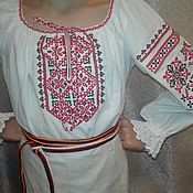 Русский стиль handmade. Livemaster - original item Children`s shirt with embroidery in a traditional style. Costume for the stage.(01). Handmade.