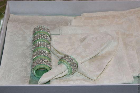 Текстиль, ковры ручной работы. Ярмарка Мастеров - ручная работа. Купить Скатерть с салфетками, кольца для салфеток. Handmade. Комбинированный