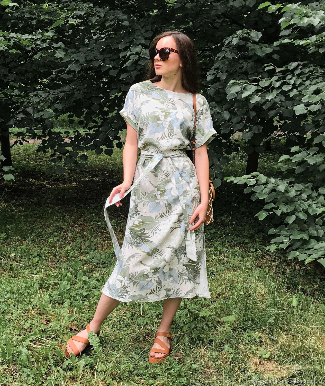 Льняное платье свободного кроя. Летнее платье, Платья, Новосибирск,  Фото №1