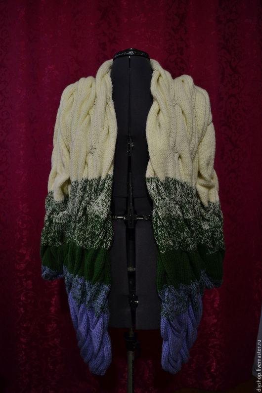 Кофты и свитера ручной работы. Ярмарка Мастеров - ручная работа. Купить Кардиган (лало). Handmade. Голубой, кардиган вязаный