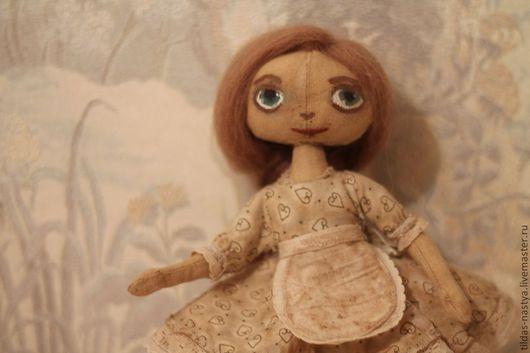 Куклы тыквоголовки ручной работы. Ярмарка Мастеров - ручная работа. Купить Чердачная кукла Марта.. Handmade. Бежевый, кукла для девочки
