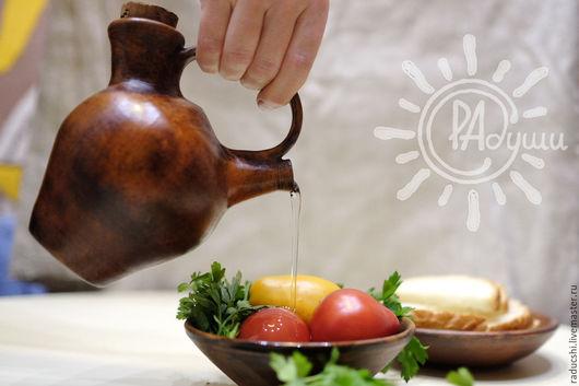 Кухня ручной работы. Ярмарка Мастеров - ручная работа. Купить Елейник керамический. Handmade. Коричневый, елейник, керамический сосуд, деревня