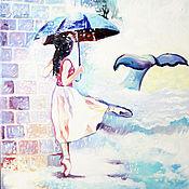 """Картины и панно ручной работы. Ярмарка Мастеров - ручная работа Картина маслом """"Rainbow"""". Handmade."""