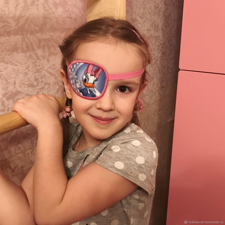 Веселые окклюдеры повязки на резиночке на глаз, Подарок новорожденному, Люберцы,  Фото №1