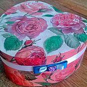 """Для дома и интерьера ручной работы. Ярмарка Мастеров - ручная работа Шкатулка-сердце """"Алые розы"""". Handmade."""