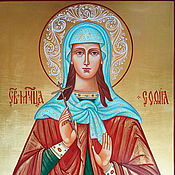 Картины и панно handmade. Livemaster - original item Saint Sophia Roman.Registered icon. Handmade.