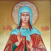 Картины и панно handmade. Livemaster - original item Saint Sophia Roman.Registered icon. Handmade.