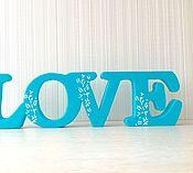 Для дома и интерьера ручной работы. Ярмарка Мастеров - ручная работа Интерьерное слова love. Handmade.