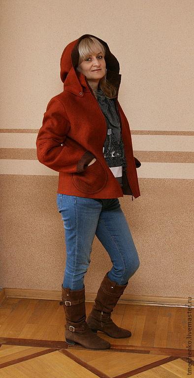 """Пиджаки, жакеты ручной работы. Ярмарка Мастеров - ручная работа. Купить Куртка """"Золотая осень"""". Handmade. Рыжий, куртка женская"""