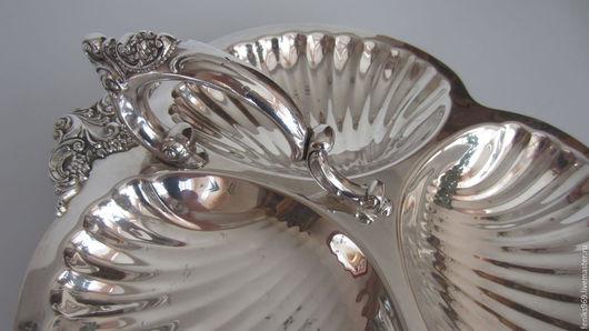 """Винтажная посуда. Ярмарка Мастеров - ручная работа. Купить -25%!Менажница """"Барокко"""", серебрение.. Handmade. Серебряный, кухонная утварь"""
