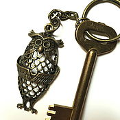 Аксессуары handmade. Livemaster - original item Key chain Owl key chain for handbag. Handmade.