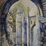 """Картины и панно ручной работы. Ярмарка Мастеров - ручная работа Акварель """"Старый замок"""". Handmade."""