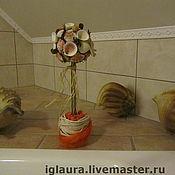 """Цветы и флористика ручной работы. Ярмарка Мастеров - ручная работа Топиарий """"Апельсиновый пляж"""". Handmade."""