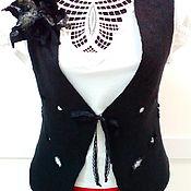 Одежда ручной работы. Ярмарка Мастеров - ручная работа Жилет из валяной шерсти Нуар. Handmade.