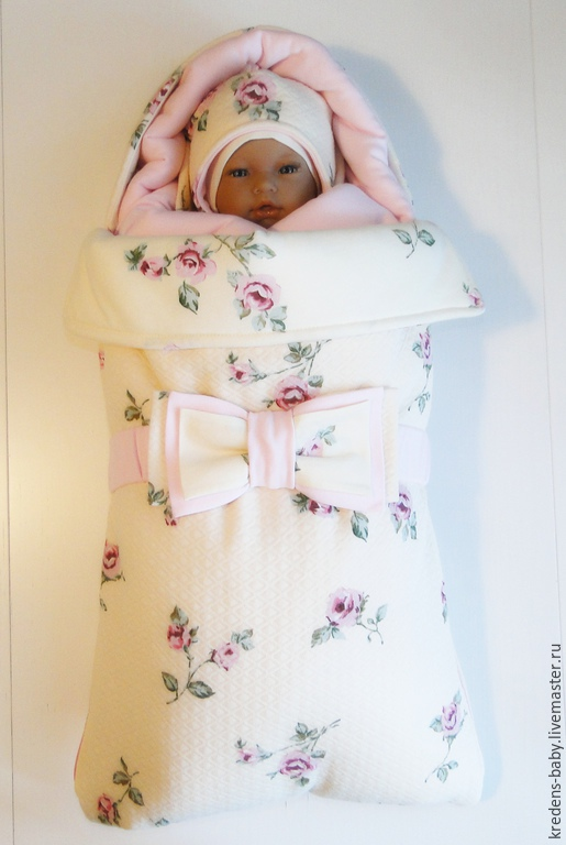 """Для новорожденных, ручной работы. Ярмарка Мастеров - ручная работа. Купить Конверт на выписку """"нежность Прованса"""". Handmade. Кремовый"""