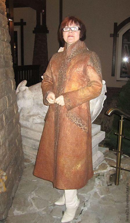 Верхняя одежда ручной работы. Ярмарка Мастеров - ручная работа. Купить Пальто для Наташи в Венецию.. Handmade. Коричневый, приталенное