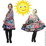 Одежда ручной работы. Ярмарка Мастеров - ручная работа РОМАНТИКА платье в корейском стиле большой размер. Handmade.