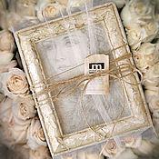 Свадебный салон ручной работы. Ярмарка Мастеров - ручная работа Картина в подарок Кремовая девушка  (в рамочке, подарок к празднику). Handmade.