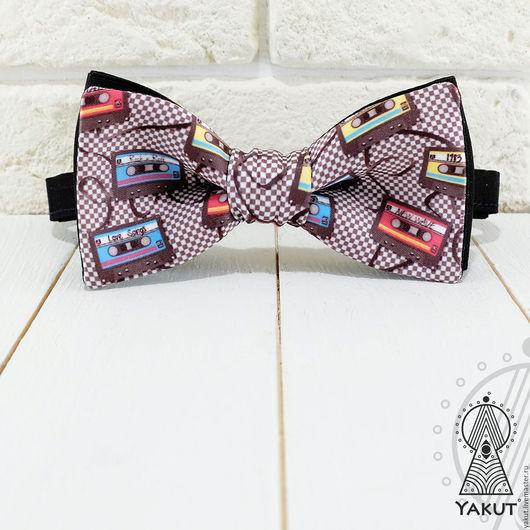 Галстуки, бабочки ручной работы. Ярмарка Мастеров - ручная работа. Купить Галстук бабочка Меломан в клеточку / бабочка-галстук. Handmade.