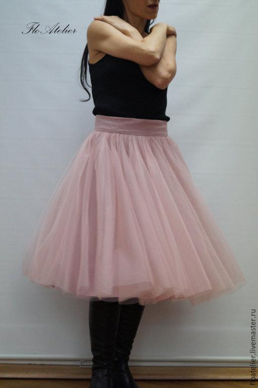 Юбки ручной работы. Ярмарка Мастеров - ручная работа. Купить Женская юбка из тюля/ Балетная юбка/ F1246. Handmade. Бежевый