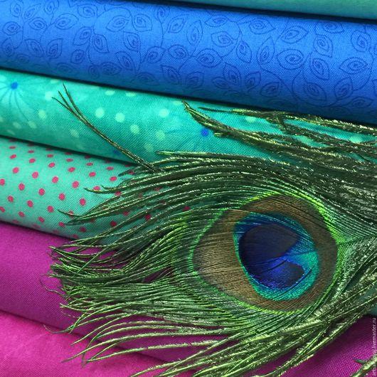"""Шитье ручной работы. Ярмарка Мастеров - ручная работа. Купить Подборка """"Peacock's Feather"""". Handmade. Фуксия, ткань для шитья"""
