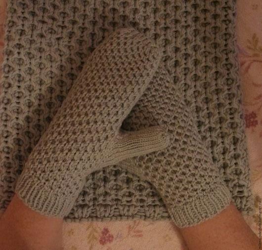 Варежки, митенки, перчатки ручной работы. Ярмарка Мастеров - ручная работа. Купить Варежки вязаные теплые мягкие из мериносовой шерсти. Handmade.