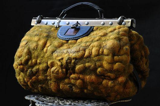"""Женские сумки ручной работы. Ярмарка Мастеров - ручная работа. Купить Саквояж   """" Saffron dunes """". Handmade."""