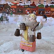 Подарки к праздникам ручной работы. Ярмарка Мастеров - ручная работа Ватная елочная игрушка АГАТА торговка ведрами. Handmade.