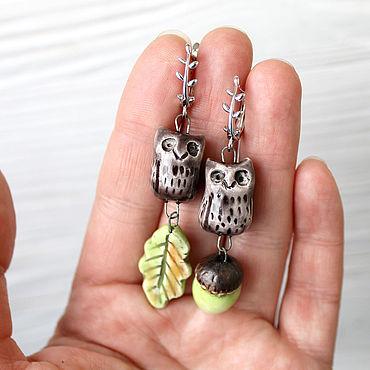 Decorations handmade. Livemaster - original item earrings: Sowosky. Handmade.