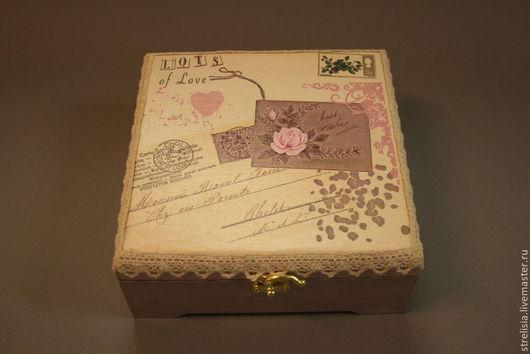 """Персональные подарки ручной работы. Ярмарка Мастеров - ручная работа. Купить Любовное письмо""""   Шкатулка для украшений. Handmade. Шкатулка"""