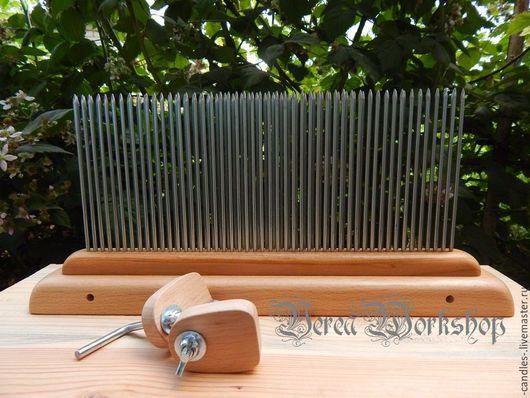 Другие виды рукоделия ручной работы. Ярмарка Мастеров - ручная работа. Купить длинный гребень №1. Handmade. Комбинированный, шерсть