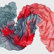 Аксессуары ручной работы. Ярмарка Мастеров - ручная работа Валяный шарф Алые Паруса. Handmade.