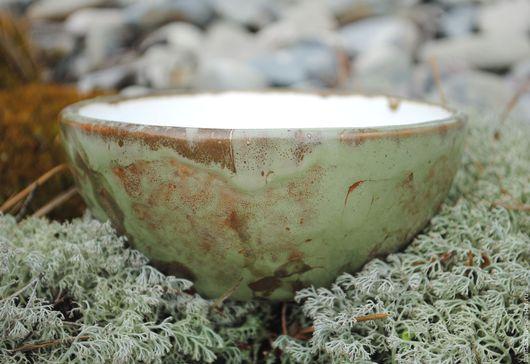 """Пиалы ручной работы. Ярмарка Мастеров - ручная работа. Купить Пиала """"Зеленый мох"""". Handmade. Оливковый, пиала для чая"""